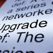 Upgrade Definition Closeup Showing Software Update — Stock Photo