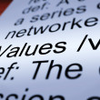 Values Definition Closeup Showing Principles And Morality — Stock Photo