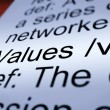 Values Definition Closeup Showing Principles And Morality - Stock Photo