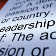 Stock Photo: Leadership Definition Closeup Showing Achievement
