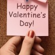 Happy Valentines Day Note Showing Love And Affection — Stock Photo