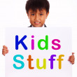 Kids Stuff Sign Shows Childrens Play Things — Stock Photo #11105466