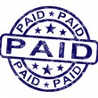Paid Stamp Shows Payment Confirmation — Foto Stock #11105584