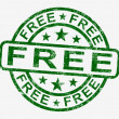 Free Stamp Showing Freebie and Promo — Stock Photo