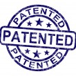 Stock Photo: Patented Stamp Showing Registered Patent Or Trademark