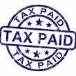 Tax Paid Stamp Shows Excise Or Duty Paid - Stock Photo