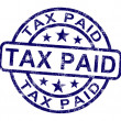 Tax Paid Stamp Shows Excise Or Duty Paid — Stock Photo