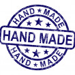 Hand Made Stamp Shows Original Handmade Artwork — Stock Photo