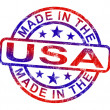 Made In USA Stamp Shows American Products Or Produce — Stock Photo #11105746