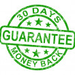 30 Days Money Back Guarantee Stamp — Stock Photo #11105765