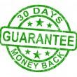 30 Days Money Back Guarantee Stamp — Stock Photo