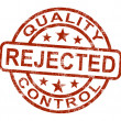 Stock Photo: Qc Rejected Stamp Shows Disallowed And Failed Product