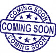 Coming Soon Stamp Showing New Product Arrival Announcement — Stock Photo