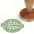 Stock Photo: Free Shipping Stamp Shows No Charge Or Gratis To Deliver