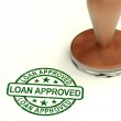 Loan Approved Stamp Showing Credit Agreement Ok — Stock Photo #11105891