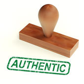 Authentic Rubber Stamp Showing Real Genuine Product — Stock Photo