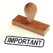 Important Rubber Stamp Shows Critical Information — Stock Photo