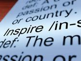 Inspire Definition Closeup Showing Encouragement — Stock Photo