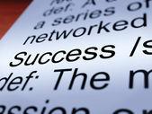 Success Definition Closeup Showing Achievements — Stock Photo