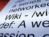 Wiki Definition Closeup Showing Online Encyclopedia — Stock Photo