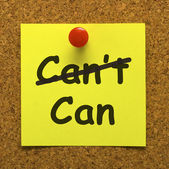 Can Message Giving Encouragement Or Inspiration — Stock Photo