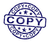 Copy Stamp Shows Duplicate Replicate Or Reproduce — Stock Photo