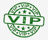 VIP Stamp Showing Celebrity Or Millionaire — Photo