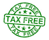 Tax Free Stamp Shows No Duty Shopping — Stock Photo