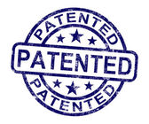 Patented Stamp Showing Registered Patent Or Trademark — Stock Photo