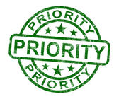 Priority Stamp Showing Rush And Urgent Service — Stock Photo
