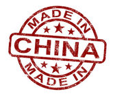 Made In China Stamp Shows Chinese Product Or Produce — Stock Photo