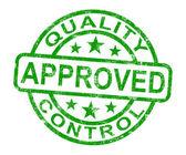 质量控制批准邮票展示优秀的产品 — 图库照片