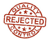 Qc Rejected Stamp Shows Disallowed And Failed Product — Stock Photo