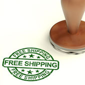 Free Shipping Stamp Shows No Charge Or Gratis To Deliver — Stock Photo