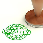 Quality Stamp Showing Excellent Superior Premium Product — Stock Photo