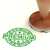 Premium Stamp Showing Excellent Superior Premium Product — Stock Photo