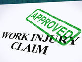 Work Injury Claim Approved Shows Medical Expenses Repaid — Stock Photo