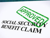 Social Security Claim Approved Stamp Shows Social Unemployment B — Stock Photo