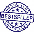 Foto Stock: Bestseller Stamp Shows Top Rated Or Leader