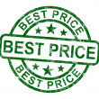 Best Price Stamp Showing Sale And Reduction — Stock Photo