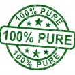 Hundred Percent Pure Stamp Shows Natural Genuine Product — Stock Photo