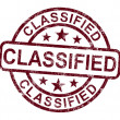 Royalty-Free Stock Photo: Classified Stamp Shows Secret Private Correspondence
