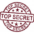 Top Secret Stamp Shows Classified Private Correspondence — Stock Photo #11222478