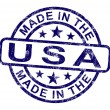 Made In Usa Stamp Shows Product Or Produce Of America — Stock Photo #11222483