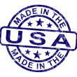 Made In Usa Stamp Shows Product Or Produce Of America — Stock Photo
