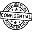 Confidential Stamp Shows Private Correspondence Or Documents — Stock Photo #11222484