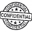 Stock Photo: Confidential Stamp Shows Private Correspondence Or Documents