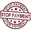 Stock Photo: Stop Payment Stamp Shows Bill Transaction Denied