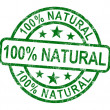 Hundred Percent Natural Stamp Shows Pure Genuine Product — Stock Photo