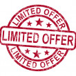 Limited Offer Stamp Shows Product Promotion — Stockfoto #11222500
